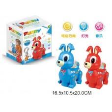 Кролик на батарейках, световые и звуковые эффекты, 2 цвета, в коробке