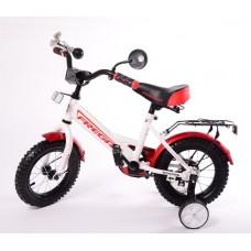 Велосипед 12 Фрегат белый-красный 1201