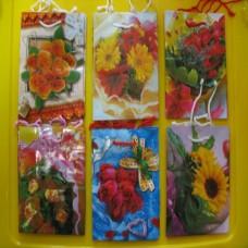 Пакет бумажный 15*12 цветы /цена за 12 шт/