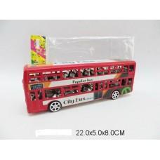 Автобус инерционный, JY678-3, в пакете 22*5*8 см