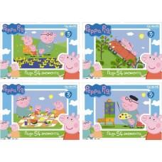 Пазл-мини 54А. Peppa Pig 01595 в уп.32шт