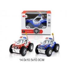 Машина перевертыш на батарейках, MY66-168, со светом, 2 цвета, в коробке, 14*11*10 см