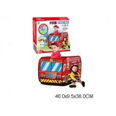 Палатка детская пожарная машина + 50 шаров пластмассовых шариков