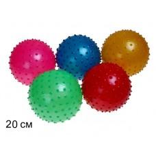Мяч массажный 20 см 50 грамм 25495-2 в пакете /400шт/// [821695]