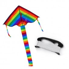 Воздушный змей  радуга с хвостом 100 см 4101 в пакете