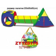 Палатка ZYK-008B-8 с тоннелем (250*95*85 см) в сумке  /12шт./