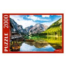 Пазлы 2000 эл. Италия. Озеро Брайес и лодки