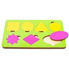 Игрушка детская вкладыш 7 фигур  цвета в ассорт 21*12,5 см