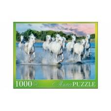 Пазлы 1000 элементов табун лошадей Камаргу masterpuzzle