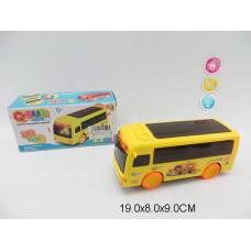 Автобус 3D на бат свет,звук 3 цвета ZX168  19*8*9см /144шт.//72шт./ [581217]
