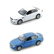 Машина Автодрайв металл 1:32 bmw m5 глянцевая, синяя, белая