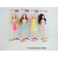 Кукла 29 см с аксессуарами, 4 вида, 8001-3, в пакете