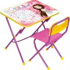 Комплект мебели Ники Маленькая принцесса стул пластмассовый  КПУ1/17 розовый