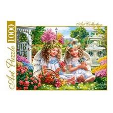 Пазлы 1000 элементов Два ангелочка в саду artpuzzle.