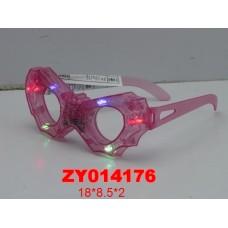Очки 0015 н/б  свет в пак 14 см  /480шт//бл./