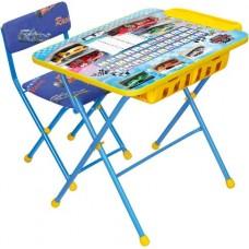 Комплект детский, складной, Большие гонки (стол,мягкий стул,пенал)