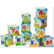 Кубики Азбука Большие 12штук в пакете 22,5x10,5x12,5 см
