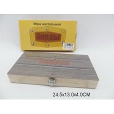 Нарды деревянные  W7710 в коробке  25*13*4см /72шт.//36шт./ [600759]