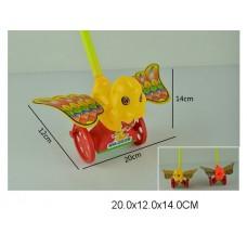 Каталка утка на палке 2 цвета 233B в пакете