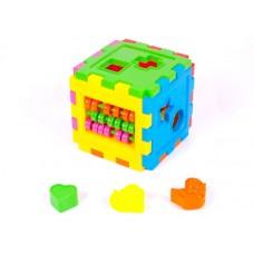 Куб логический со счетами большой 12*12 см