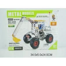 Конструктор металлический 208 дет 3438 в коробке