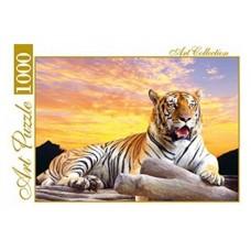 Пазлы 1000 эл.  тигр на закате artpuzzle.