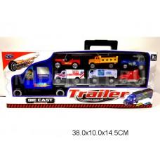 Машина автовоз, металлическая, MZ997D, в  коробке, 38*10*14,5 см