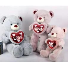 Медведь сердце в блестящих лапах, 100 см