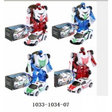 Машина-трансформер металл A1033-1034-07 16*8см в коробке /48шт./