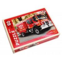 Пазлы 60 эл. пожарная машина арт. п60-0974