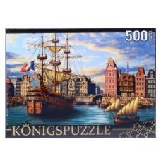 Пазлы 500 эл. Корабли в порту Konigspuzzle.