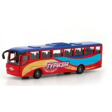 Автобус рейсовый Технопарк металл. инерц. 15см, открыв. двери в русс. кор. в кор.2*24шт [219360]