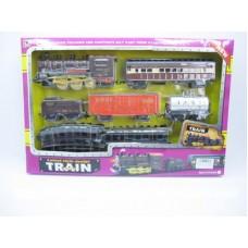 Железная дорога на батарейках, световые и звуковые эффекты, PY00897, в коробке, 56*6*37 см