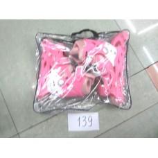 АКЦИЯ Ролики 139 4 цв:син,роз,красн,сер,р.L ( 39 - 43 )  в сумке  /6шт//бл./