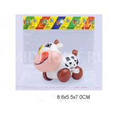 Корова заводная 8 см 6635B в пакете