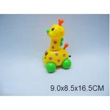 Жираф заводной на шнуре 3 цвета OD218 в пакете