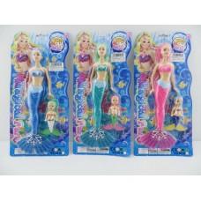 Кукла русалка, 8815A, 3 вида, на листе, 20*4*43 см