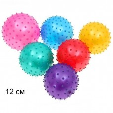 Мяч массажный 12 см 25 грамм 25495-3 в пакете /600шт/// [821696]