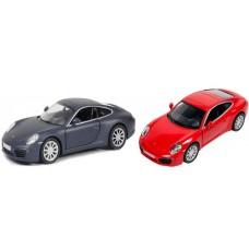 Машина Автодрайв, металлическая,1:32, porsche, черная, красная