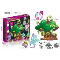 Дом-дерево для пони в коробке 24,5*5*17 см