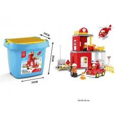 Конструктор Пожарная станция 60 деталей 188-224 в коробке