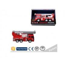 Машина 1:18 пожарная, инерционная, световые и звуковые эффекты, G1620, в коробке, 20*30*10 см