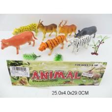 Набор диких животных в пакете