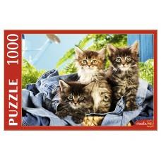 Пазлы 1000 эл. Котята в корзине