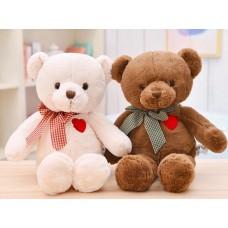 Медведь с бантом сердце на груди 33 см