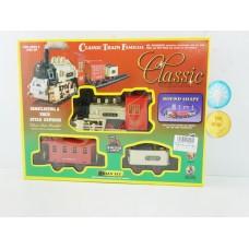 Железная дорога на батарейках, световые и звуковые эффекты, 816-2, в коробке, 42*7*28 см