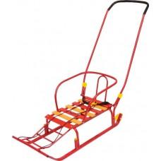 Санки Тимка №5 Классик(с колесами), цвет красный