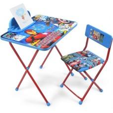 Комплект детской мебели Disney 2 Мстители (стол+стул мяг+пенал)