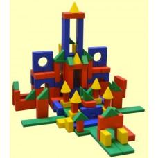 Набор строительный №1 120 деталей в коробке 25*22*13 см