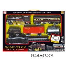 Железная дорога на батарейках, световые и звуковые эффекты, PYK7, в коробке, 56*6*37 см